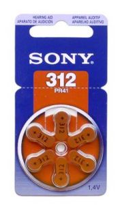 Sony Batterij PR41 (312) 6 st. - MAX05000003